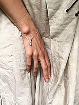 Срібний браслет з зайцем, 925 проба, фото 2