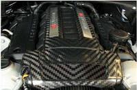 Крышка двигателя, 2 детали, Карбон