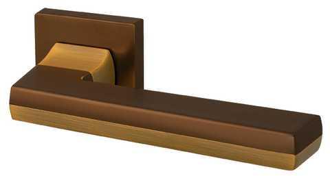 Ручки дверні Armadillo GROOVE USQ5 BB/SBB-17 Коричнева бронза/матова коричнева бронза