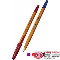 Economix Ручка шариковая ORANGE. Цвета- синяя, черная, красная, фиолетовая (50шт) Арт.E10138