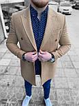 😜 Пальто Чоловіче пальто на осінь \ чоловіче пальто двобортне, фото 3