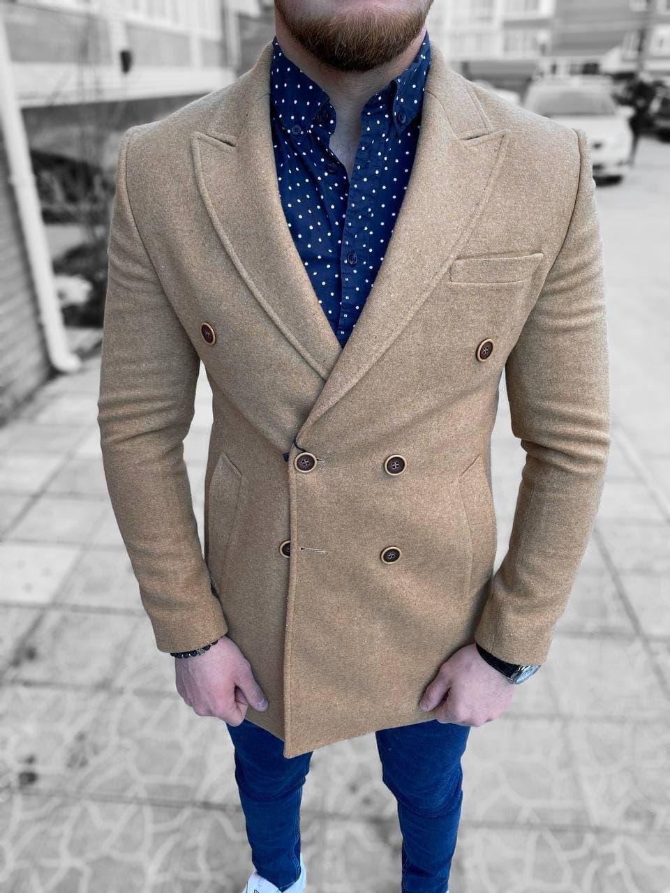 😜 Пальто Чоловіче пальто на осінь \ чоловіче пальто двобортне