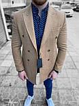😜 Пальто Чоловіче пальто на осінь \ чоловіче пальто двобортне, фото 4