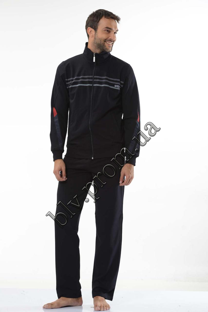 Трикотажный мужской спортивный костюм пр-во Турция FM15955 Black