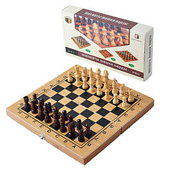 Ігровий набір 3в1 Нарди, Шахи, Шашки (29х29 см) B3015