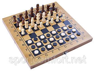 Ігровий набір 3в1 нарди, шахи і шашки (34х34 см) №3517B