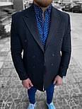 😜 Пальто - Мужское пальто на осень \ чоловіче пальто двобортне чорне, фото 3