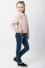 """Куртка-косуха для девочки """"Эмми"""" бежевая"""