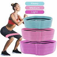 Резинка для фитнеса и спорта тканевая, Фитнес Резинки Zakerda Hip Resistance Band Комплект Из 3 Штук! Хороший