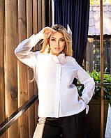 Жіноча велика біла сорочка з ланцюжком, фото 1