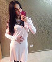 Красивое праздничное платье с открытой спинкой, розовое