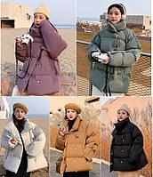 Зимняя куртка пуховик стеганая оверсайз, фото 1
