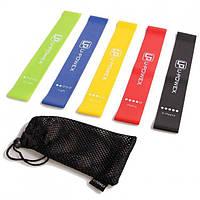Набор спортивных резинок резиновые ленты для фитнеса йоги U-POWEX Комплект из 5 штук! Наличие