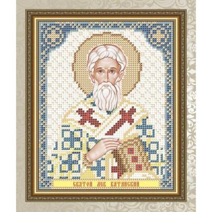 """Рисунок на ткани для вышивания бисером  """" Святой Лев Катанский"""", фото 2"""