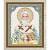 """Рисунок на ткани для вышивания бисером  """" Святой Лев Катанский"""""""