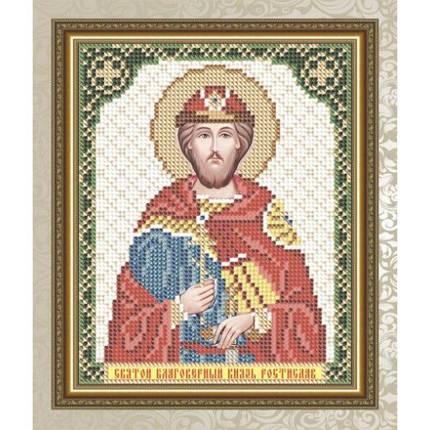 """Рисунок на ткани для вышивания бисером  """"Святой Благоверный Князь Ростислав"""", фото 2"""