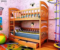 """Деревянная Кровать Детская Двухъярусная Трансформер """"Даниель"""", фото 1"""