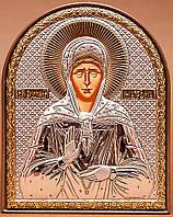 Святая Матрона Московская Икона серебряная Silver Axion (Греция) 40 х 56 мм