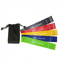Комплект спортивных резинок для фитнеса йоги резиновые ленты U-POWEX набор 5 штук! Рекомендуем