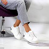Кроссовки на платформе, белые из натуральной кожи, фото 6