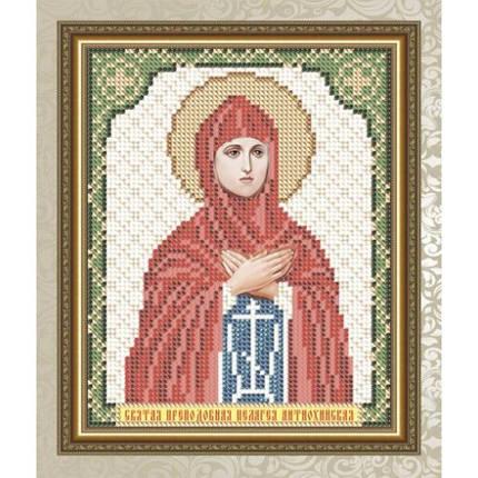 """Рисунок на ткани для вышивания бисером """"Святая Преподобная Пелагея Антиохийская"""", фото 2"""