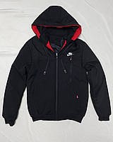 Зимова чоловіча куртка під гумку NIKE розмір норма 48-56,колір темно-синій