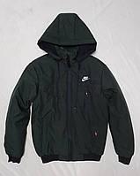 Зимова чоловіча куртка під гумку NIKE розмір норма 48-56,колір темний хакі