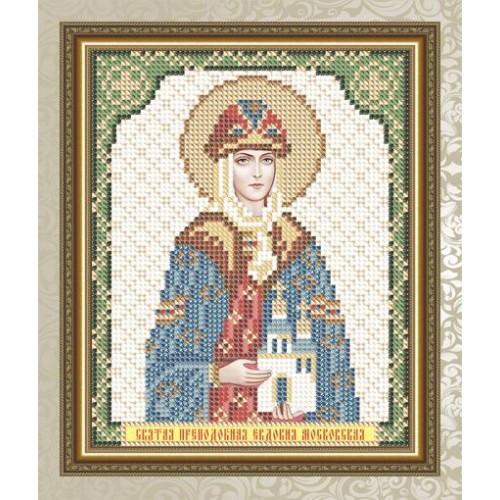 """Рисунок на ткани для вышивания бисером """"Святая Преподобная Евдокия Московская"""""""