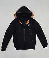 Зимова чоловіча куртка під гумку NIKE розмір норма 48-56,колір чорний