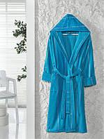Тёплый махровый женский халат Ladik Venneta
