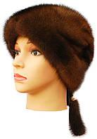 """Женская шапка норковая """" Альбина """" цвет орех"""