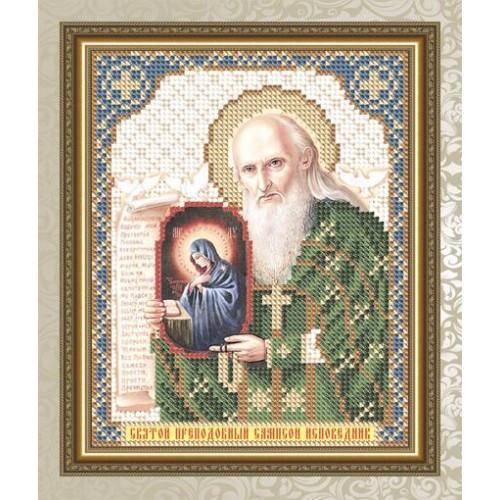 """Рисунок на ткани для вышивания бисером """"Святой Преподобный Сампсон Исповедник"""""""