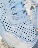 Белые кроссовки с перфорацией из натуральной кожи, фото 4