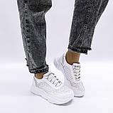 Белые кроссовки с перфорацией из натуральной кожи, фото 10
