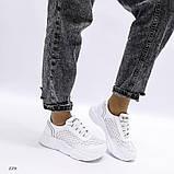 Белые кроссовки с перфорацией из натуральной кожи, фото 6