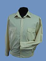 Форменная рубашка  бежевая с длинным рукавом, фото 1