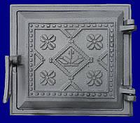 Двері чавунні топочна Вишиванка