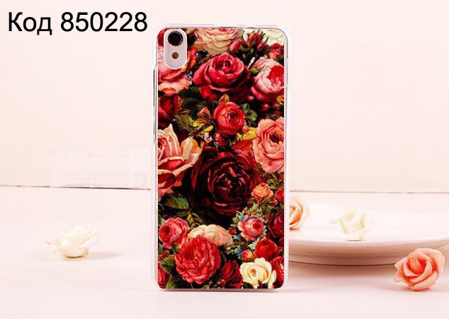 Чехол для lenovo s850 панель накладка с рисунком розы