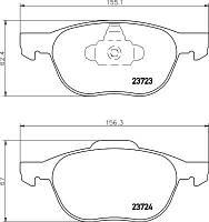 Тормозные колодки передние Ford Focus II,III, C-Max, Kuga Mazda 3 (BK) (BL), 5 (CR19) (CW), Volvo S40
