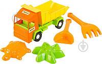 Игрушка Wader Грузовик Mini truck с набором для игр с песком 5 элементов 39157