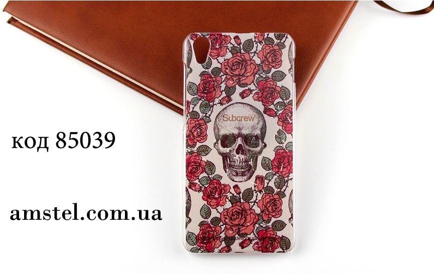 Чехол для lenovo s850 панель накладка с рисунком череп