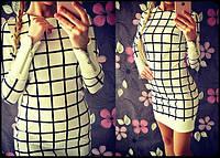 """Женское модное платье """"Квадрат"""" (2 цвета), фото 1"""