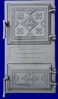 Двери чугунные спаренная Вишиванка