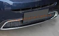 Хром накладка на передний бампер на KIA Sorento 2012+