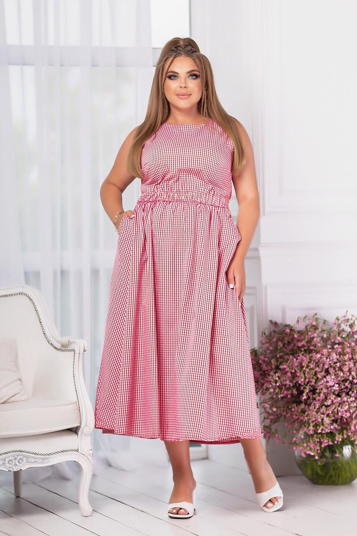 Летние платье с карманами (Батал)