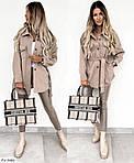 Жіноча коротке пальто-сорочка (Батал), фото 4