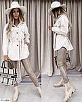 Жіноча коротке пальто-сорочка (Батал), фото 7