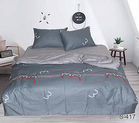 Комплект постельного белья полуторный с компаньоном S417 сатин люкс