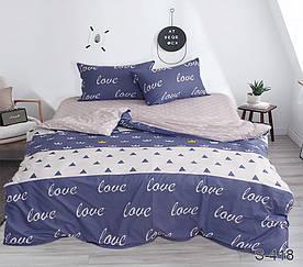 Комплект постельного белья полуторный с компаньоном S418 сатин люкс