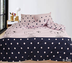 Комплект постельного белья полуторный с компаньоном S420 сатин люкс